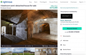 A property for sale within the prison walls, complete with Victorian tunnels