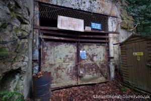 The entrance portal to Teffont Quarry