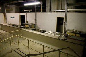 The canteen in Burlington bunker